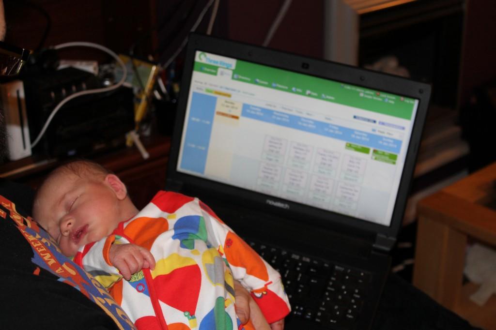 A photo of JTA holding Annabel while testing Milestone Neodymium
