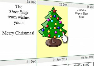Three Rings Christmas Card, 2009